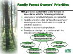 family forest owners priorities