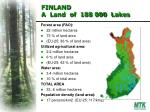 finland a land of 188 000 lakes
