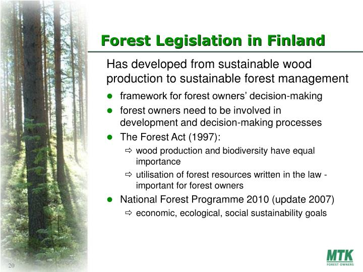 Forest Legislation in Finland