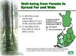 well being from forests is spread far and wide
