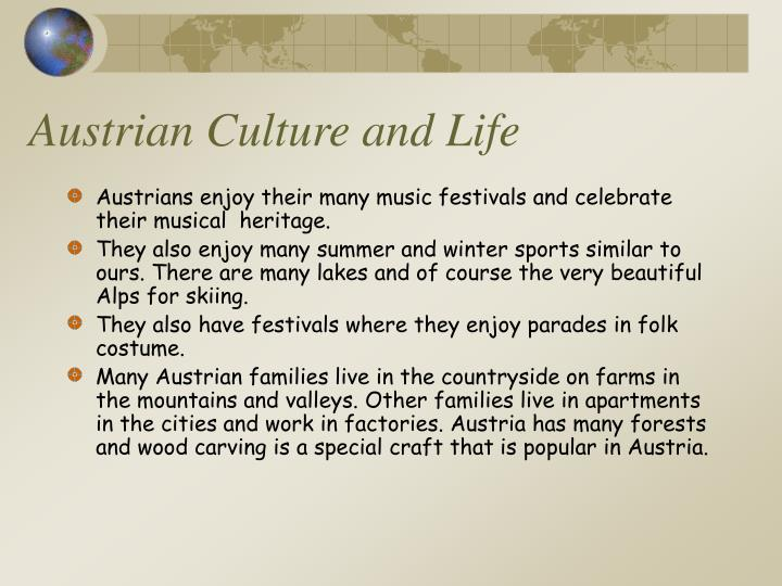 Austrian Culture and Life