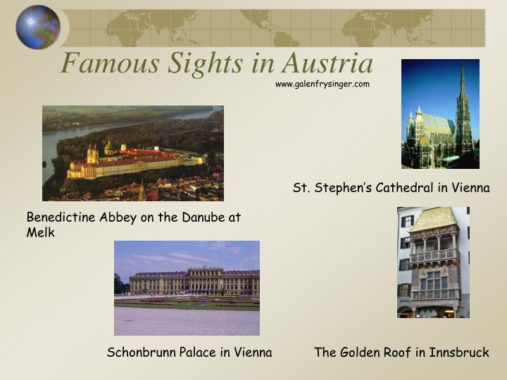 Famous Sights in Austria