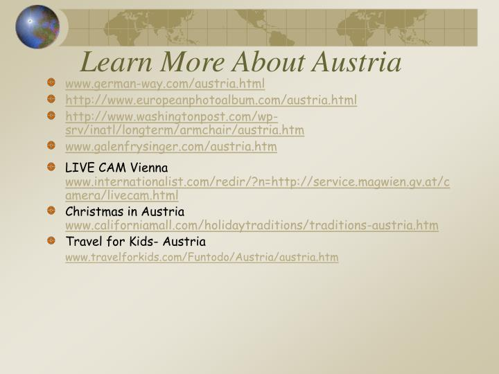 Learn More About Austria