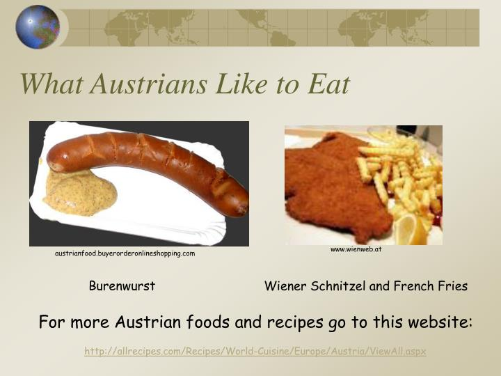 What Austrians Like to Eat