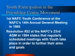 youth participation in the friendship centre movement1
