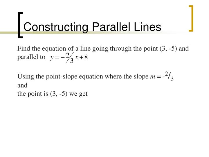 Constructing Parallel Lines