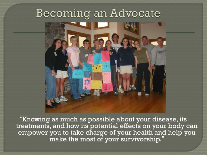 Becoming an Advocate