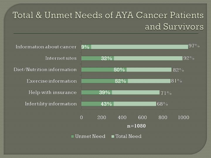 Total & Unmet Needs of AYA Cancer Patients and Survivors