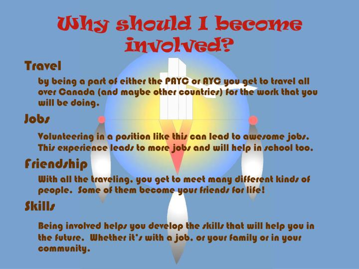 Why should I become involved?