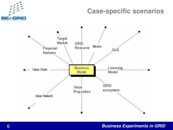 Case-specific scenarios