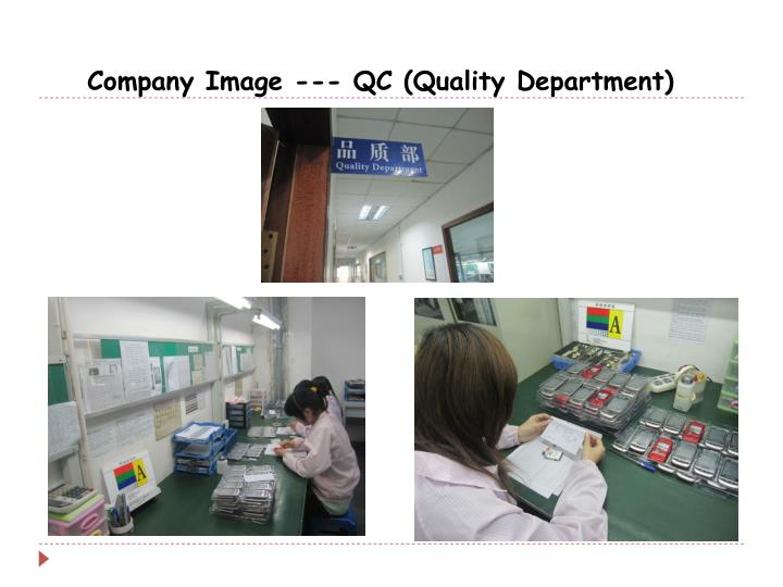 Company Image --- QC (Quality Department)