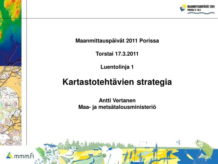 Maanmittauspäivät 2011 Porissa