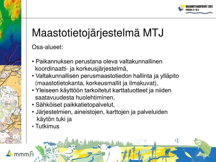 Maastotietojärjestelmä MTJ