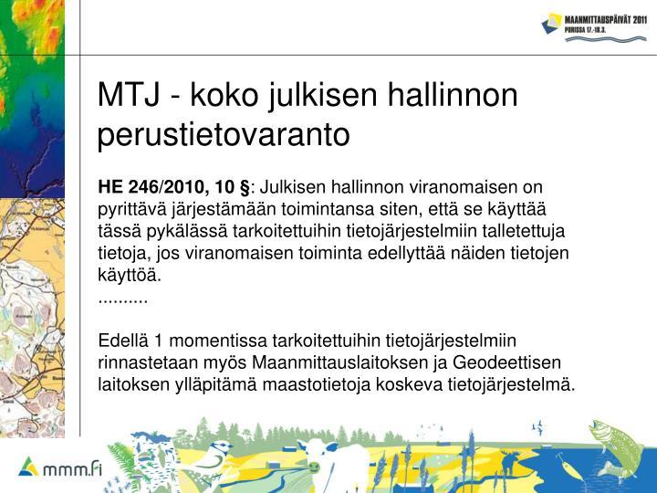 MTJ - koko julkisen hallinnon