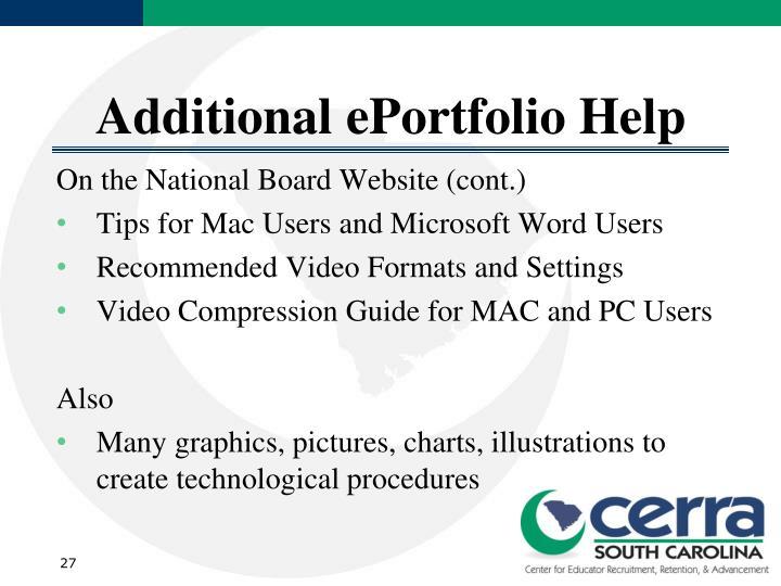 Additional ePortfolio Help