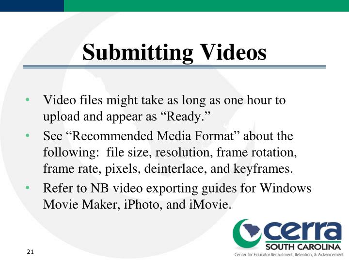 Submitting Videos