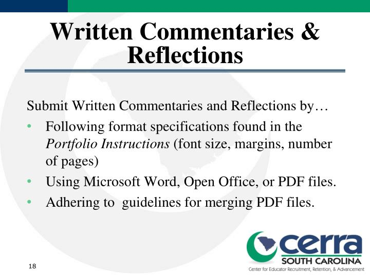 Written Commentaries & Reflections