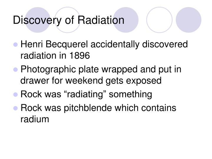 Discovery of Radiation
