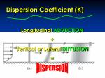 longitudinal advection vertical or lateral diffusion