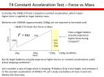 t4 constant acceleration test force vs mass
