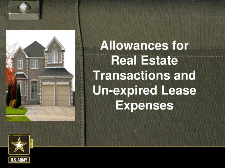 Allowances for