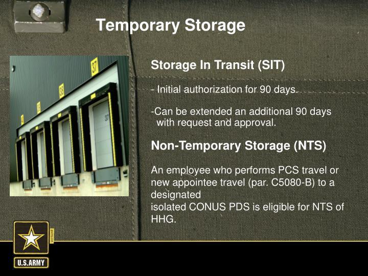 Storage In Transit (SIT)