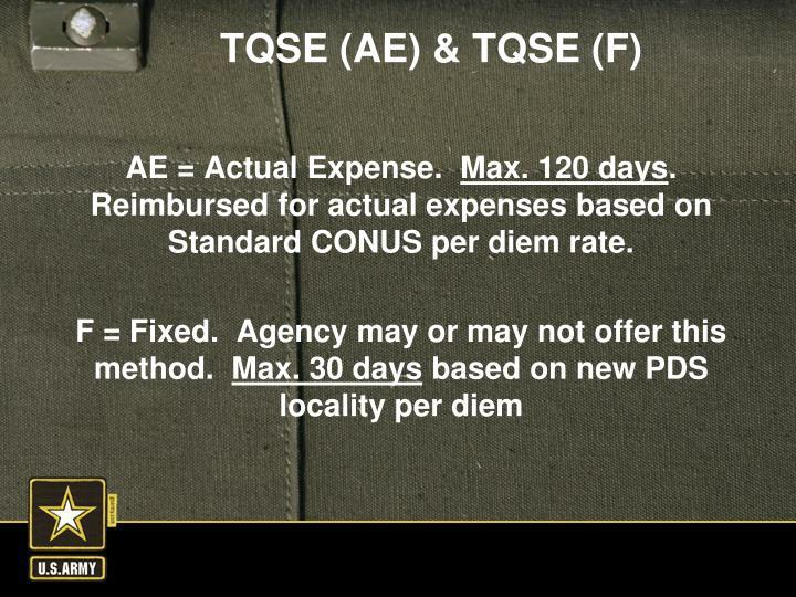 AE = Actual Expense.