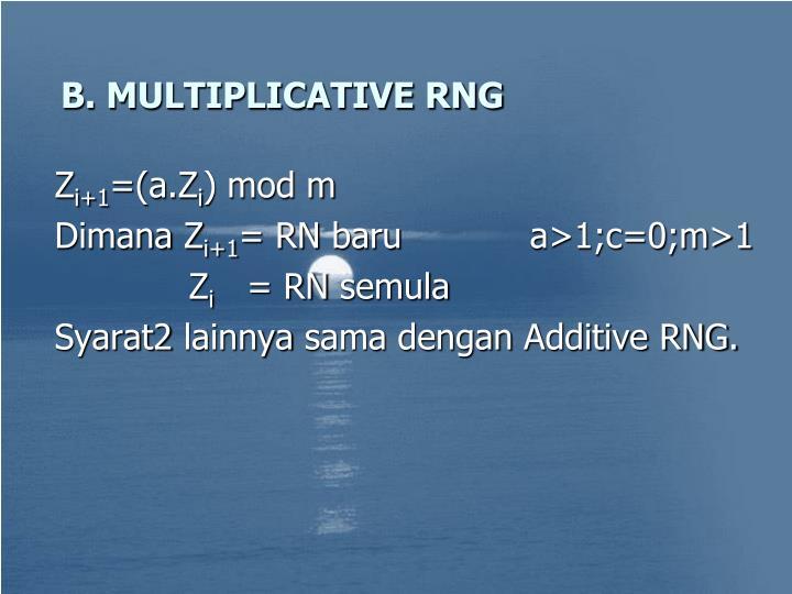 B. MULTIPLICATIVE RNG