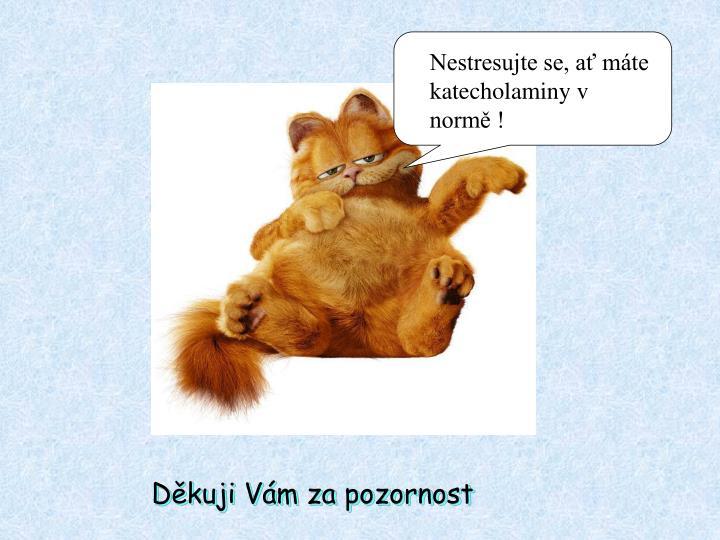 Nestresujte se, ať máte katecholaminy v normě !