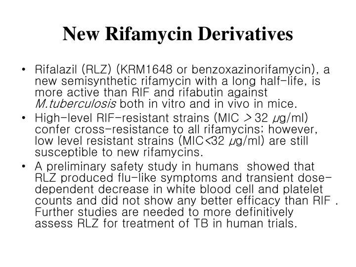 New Rifamycin Derivatives