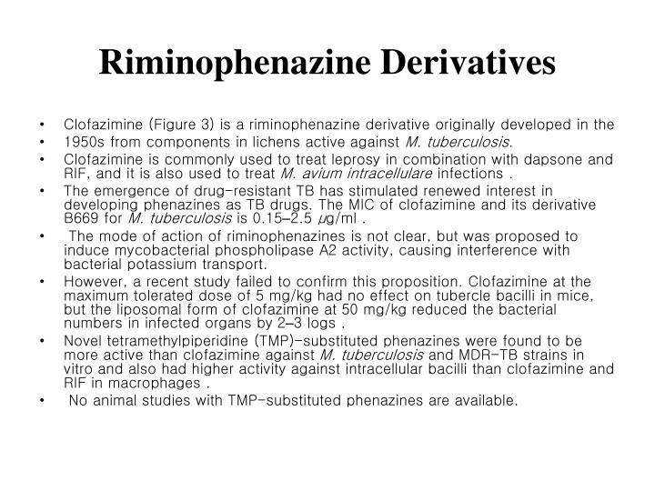 Riminophenazine Derivatives