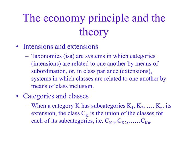 The economy principle and the theory