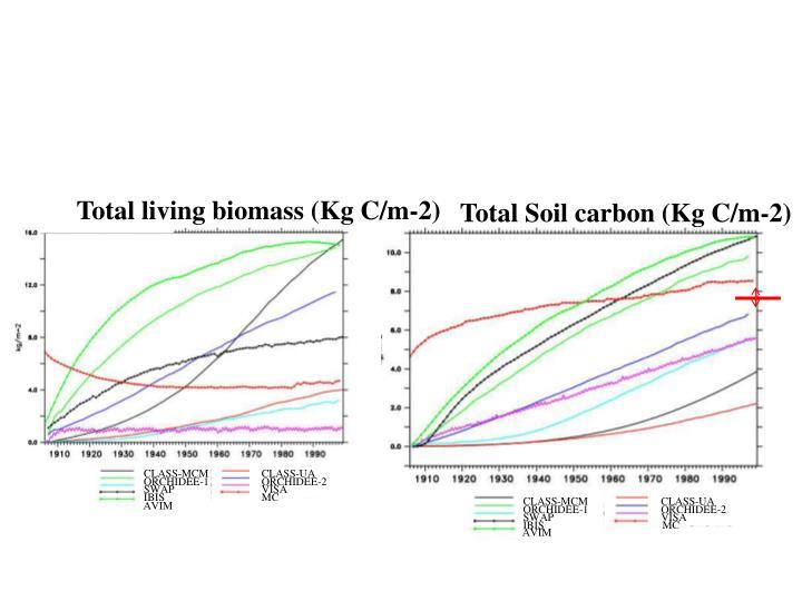 Total Soil carbon (Kg C/m-2)