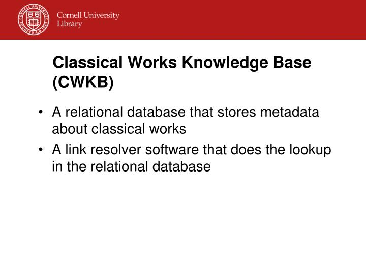 Classical Works Knowledge Base