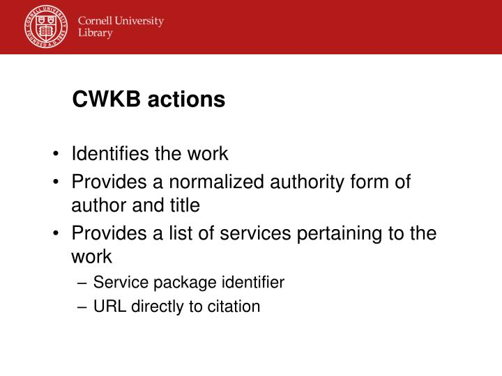 CWKB actions
