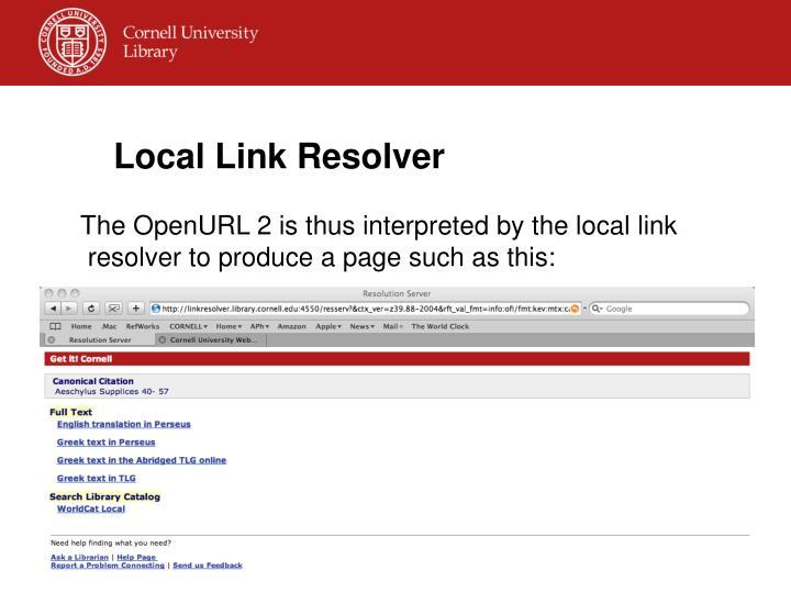 Local Link Resolver