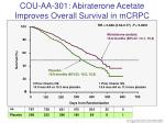 cou aa 301 abiraterone acetate improves overall survival in mcrpc
