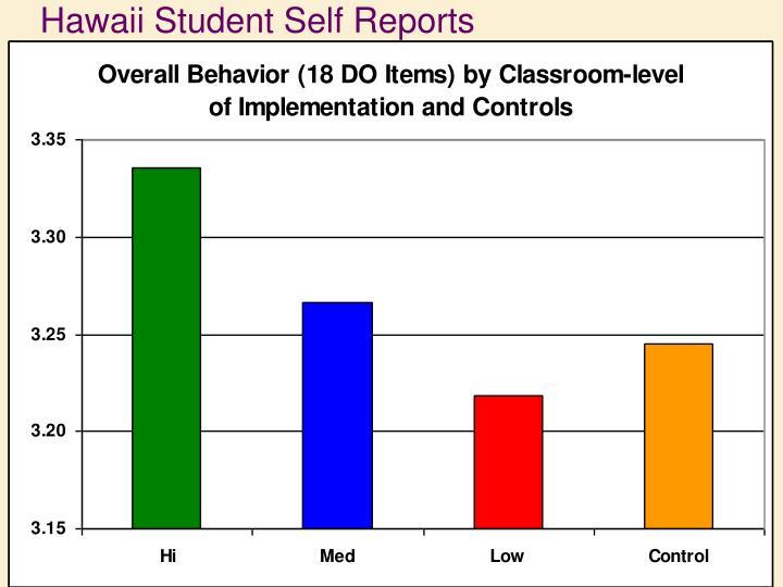 Hawaii Student Self Reports
