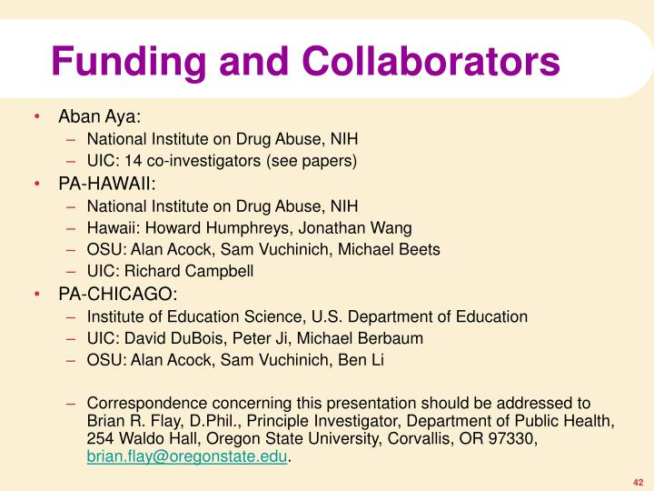 Funding and Collaborators