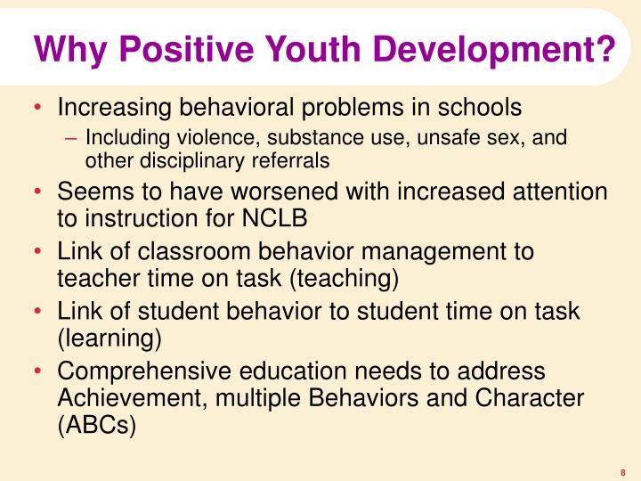 Why Positive Youth Development?
