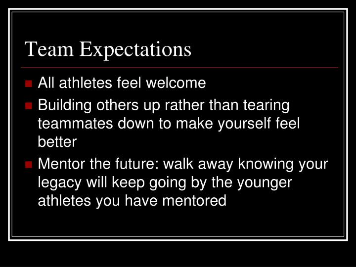 Team Expectations