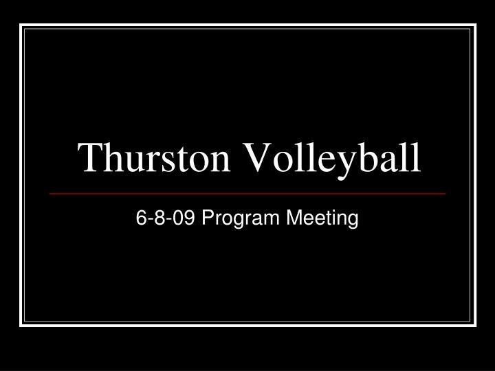 thurston volleyball
