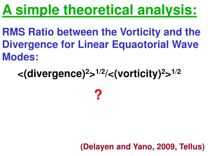 A simple theoretical analysis: