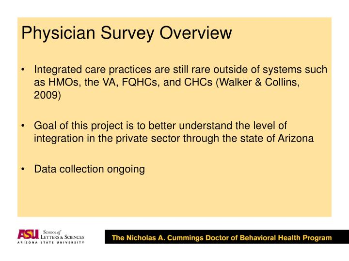 Physician Survey Overview
