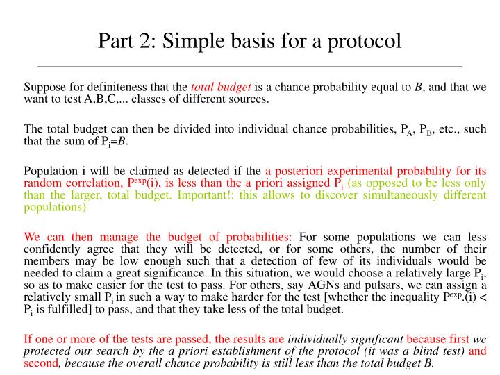 Part 2: Simple basis for a protocol