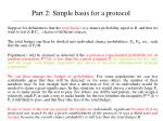 part 2 simple basis for a protocol