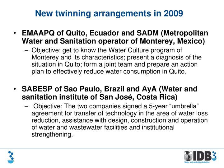 EMAAPQ of Quito, Ecuador and SADM (Metropolitan Water and Sanitation operator of Monterey, Mexico)