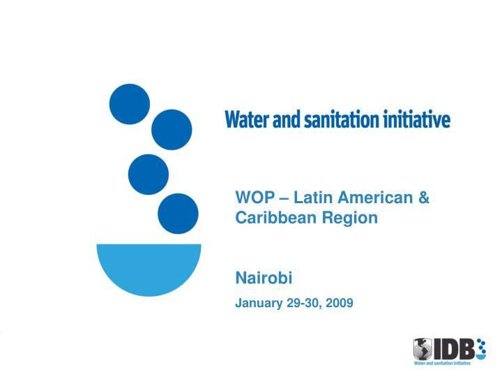 WOP – Latin American & Caribbean Region