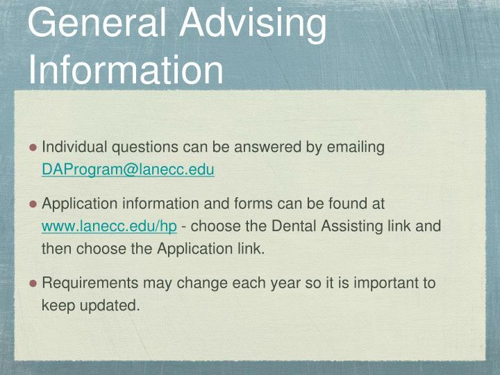 General Advising Information