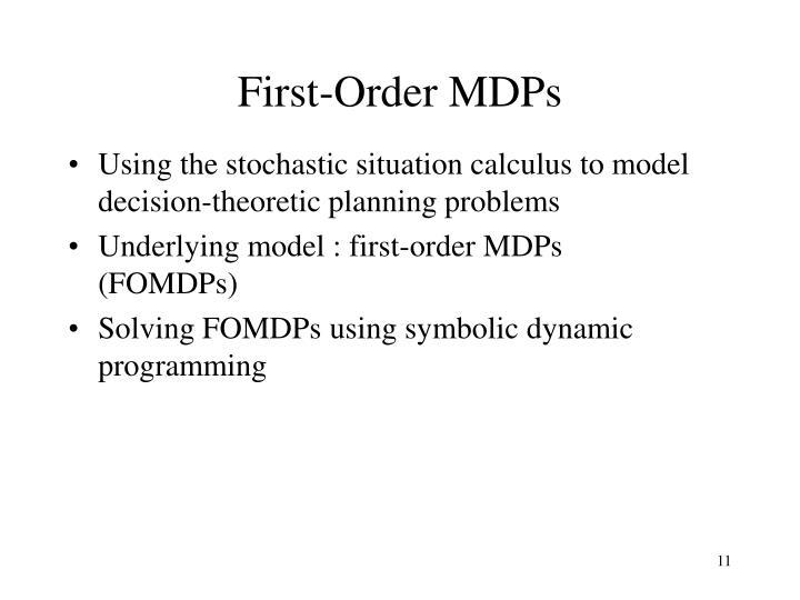 First-Order MDPs